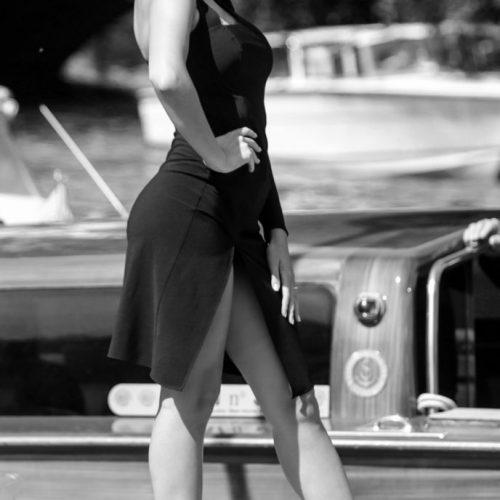 Georgina Rodriguez all'arrivo all'hotel Excelsior al Festival del Cinema di Venezia 2018, foto di Mairo Cinquetti