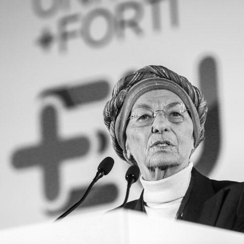 Ritratto della politica Emma Bonino a Milano, foto di Mairo Cinquetti