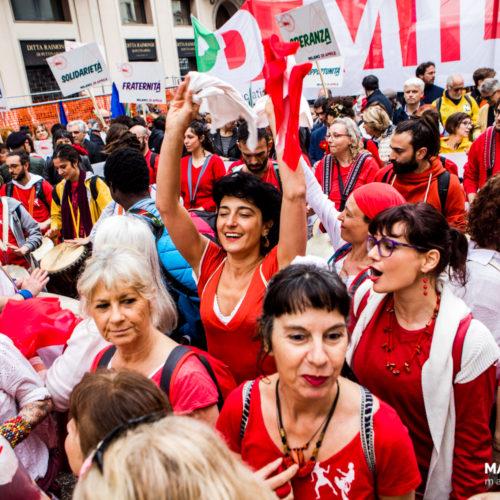 Manifestazione per il 25 aprile 2019 a Milano, foto di Mairo Cinquetti