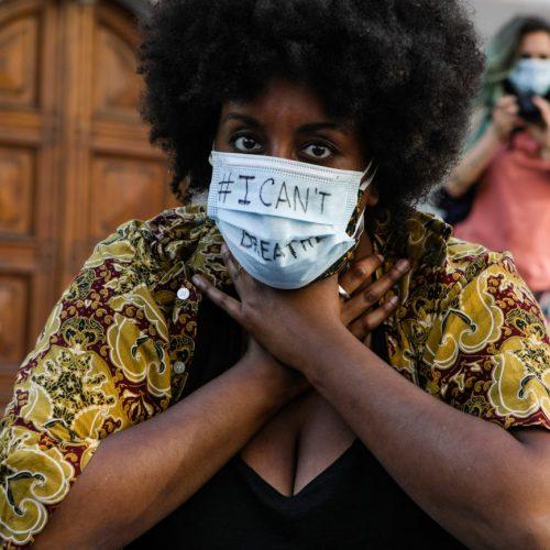 Proteste Black Lives Matter al consolato americano a Milano, foto di Mairo Cinquetti