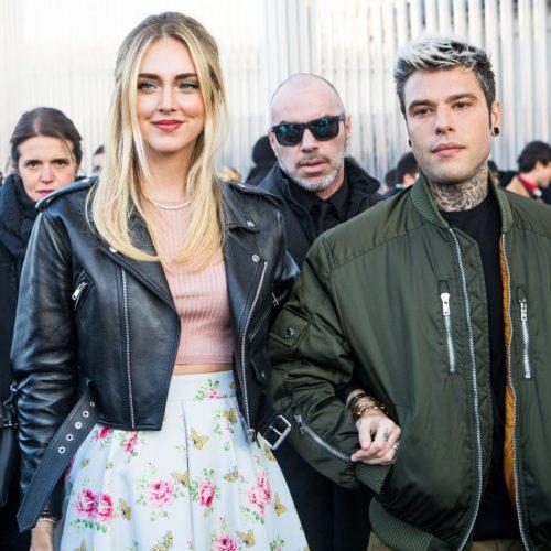 Chiara Ferragni e il rapper Fedez alla sfilata di Prada alla Milano Fashion Week 2020, foto di Mairo Cinquetti