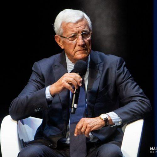 L'allenatore campione del Mondo Marcello Lippi durante il Festival dello Sport a Milano, foto di Mairo Cinquetti