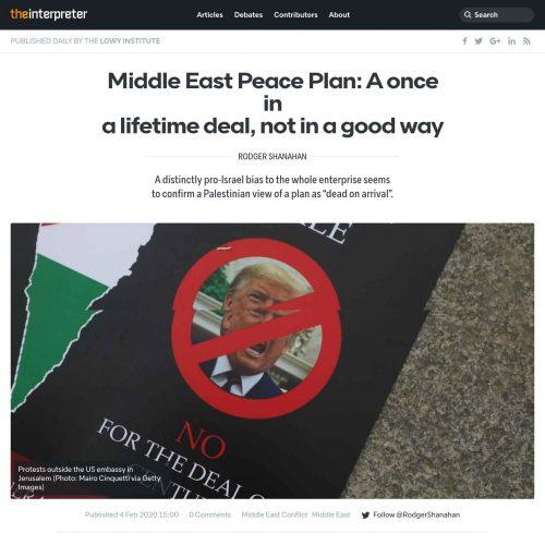 Protesta Palestinese contro Trump a Londra in una pubblicazione su The Interpreter, foto di Mairo Cinquetti
