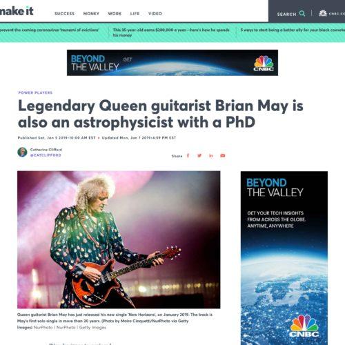 Brian May dei Queen a Milano in una pubblicazione su Make It, foto di Mairo Cinquetti