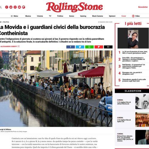 Navigli a Milano in una pubblicazione su Rolling Stone, foto di Mairo Cinquetti