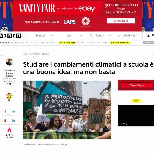 Manifestazione sul cambiamento climatico a Milano in una pubblicazione su Vanity Fair, foto di Mairo Cinquetti