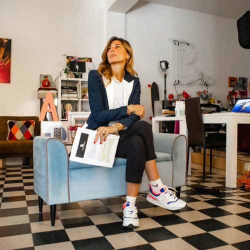 Shooting fotografico per Alessandra Grillo a Milano, foto di Mairo Cinquetti