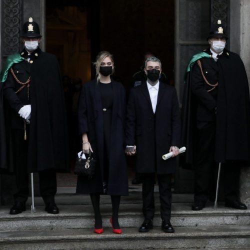 Chiara Ferragni e il rapper Fedez ricevono l'Ambroino D'oro dal Comune di Milano, foto di Mairo Cinquetti