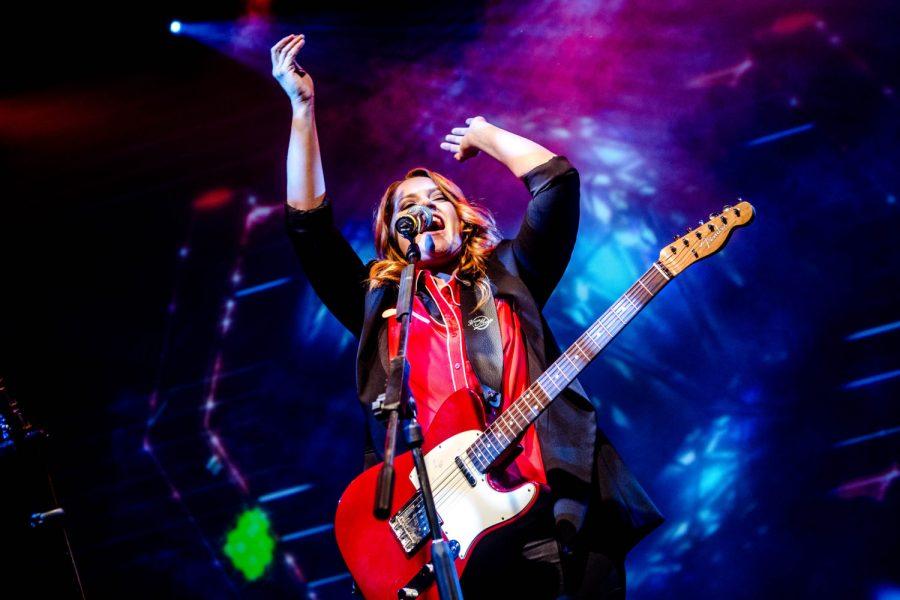 Italian singer Noemi performs live at Alcatraz in Milano, Italy, on November 23 2016