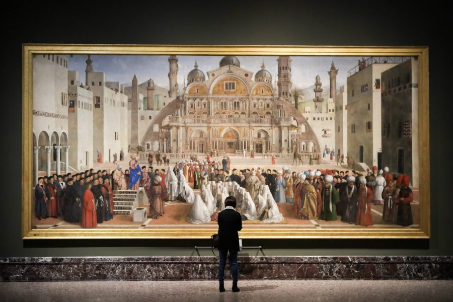 Reopening to the public of the Pinacoteca di Brera after the forced closure for the coronavirus emergency
