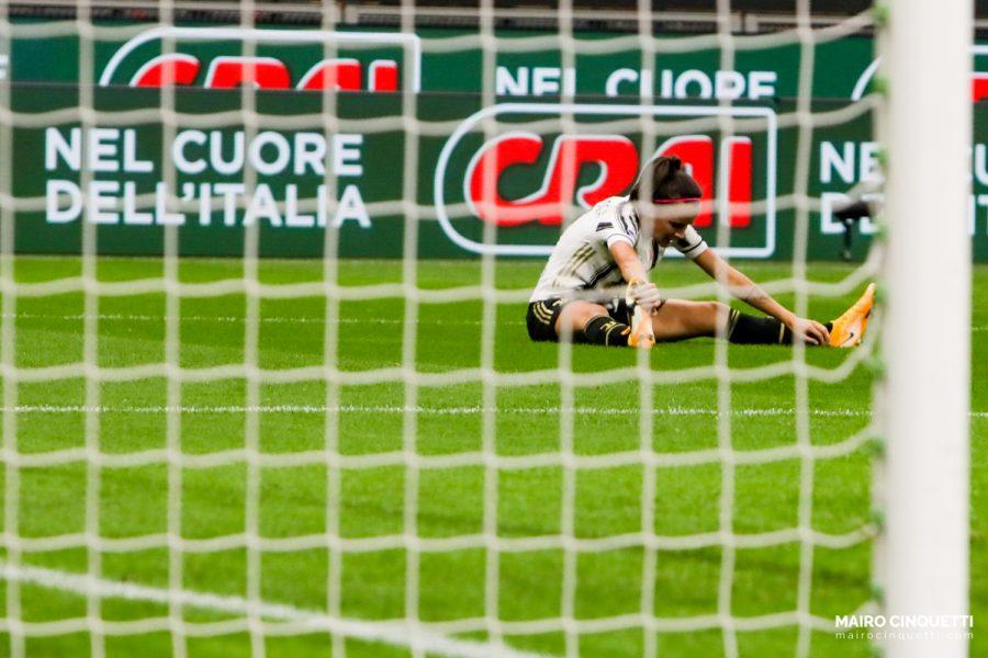 Barbara Bonansea of Juventus misses a goal during Milan Women vs Juventus Women at Stadio San Siro in Milan, Italy, on October 05 2020